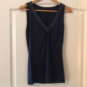 Express Sleeveless Top with Sparkles